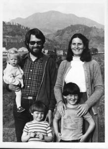 In Pokhara, 1983 - Elizabeth 1, Ethan 4, David 6.